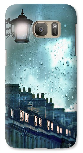 Galaxy Case featuring the photograph Evening Rainstorm In The City by Jill Battaglia