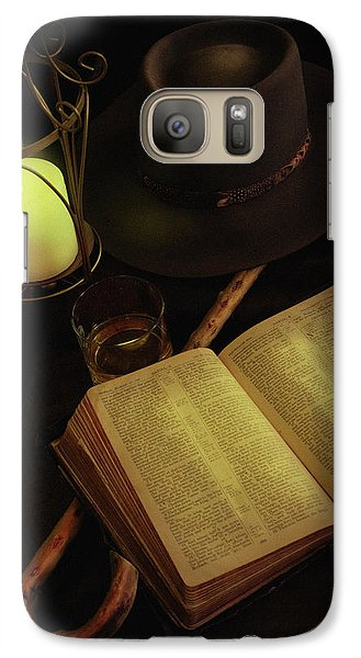 Galaxy Case featuring the photograph Evening Reading by Ann Lauwers