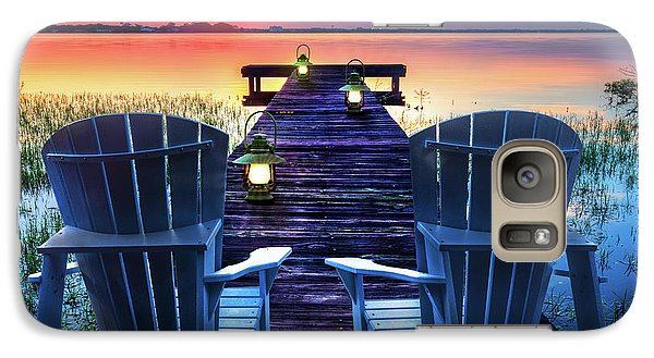 Galaxy Case featuring the photograph Evening Romance by Debra and Dave Vanderlaan
