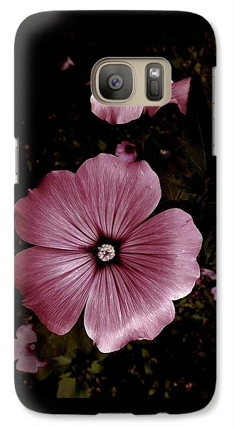 Galaxy Case featuring the photograph Evening Rose Mallow by Danielle R T Haney