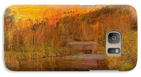 Galaxy Case featuring the digital art Evening Shadows II by John Selmer Sr