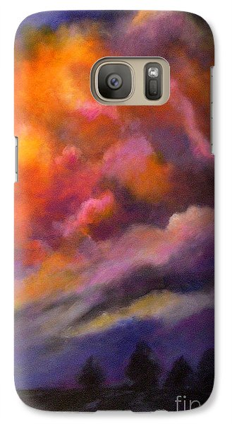 Galaxy Case featuring the painting Evening Symphony by Alison Caltrider