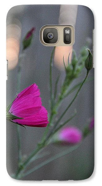 Galaxy Case featuring the photograph Evening Winecup by Elizabeth Sullivan