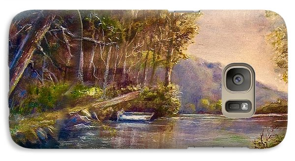 Galaxy Case featuring the painting Evening's Twilight by Patricia Schneider Mitchell