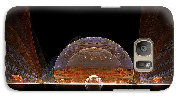 Galaxy Case featuring the digital art Event Horizon by Richard Ortolano