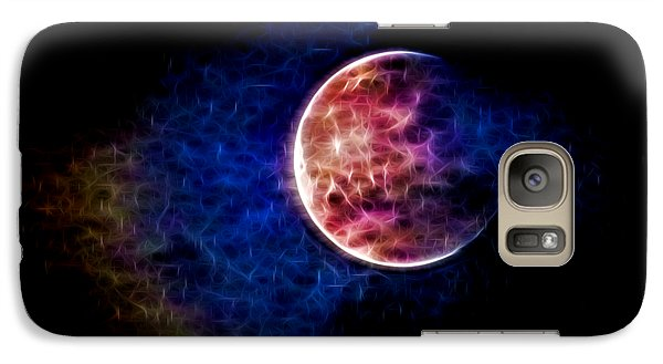 Galaxy Case featuring the photograph Ever Changing Moon Color Waves by Denise Beverly