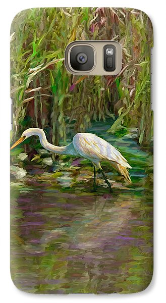 Galaxy Case featuring the painting Everglades Hunter by David  Van Hulst