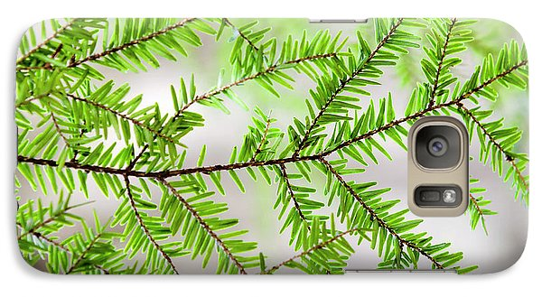Galaxy S7 Case featuring the photograph Evergreen Abstract by Christina Rollo