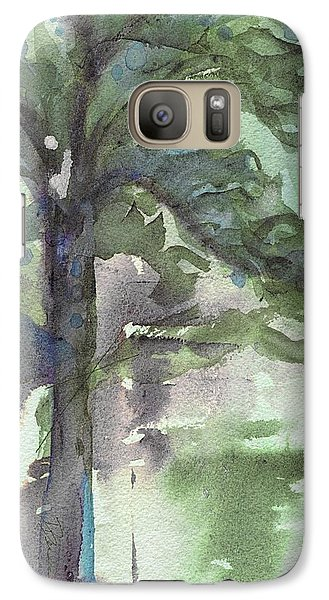 Galaxy Case featuring the painting Evergreen by Dawn Derman