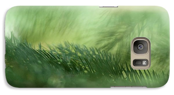 Galaxy Case featuring the photograph Evergreen Mist by Ann Lauwers
