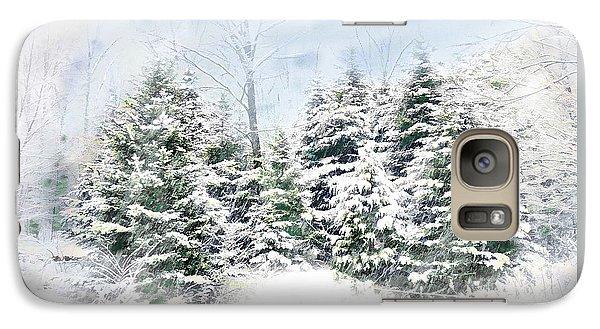 Galaxy Case featuring the digital art Evergreens by John Selmer Sr