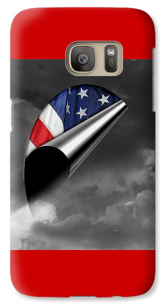 Galaxy Case featuring the photograph every Cloud has a Lining by Karen Musick