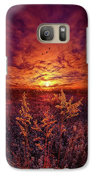Galaxy Case featuring the photograph Every Sound Returns To Silence by Phil Koch