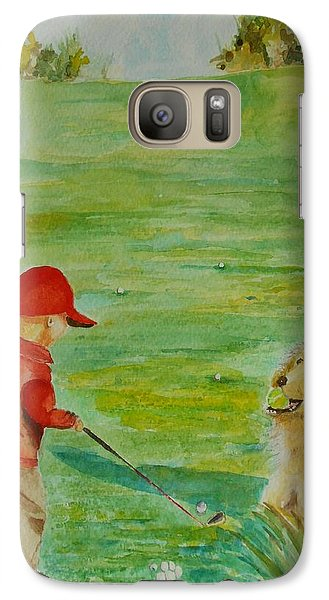 Galaxy Case featuring the painting Everything Waits While I Golf Art by Geeta Biswas
