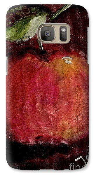 Galaxy Case featuring the painting Eve's Apple.. by Jolanta Anna Karolska