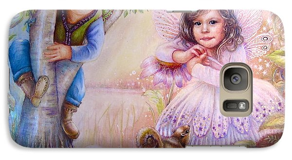 Galaxy Case featuring the painting Evie And Luke by Patricia Schneider Mitchell