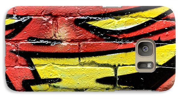 Galaxy Case featuring the painting Evil Graffiti Face by Yurix Sardinelly