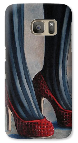 Galaxy Case featuring the painting Evil Shoes by Jindra Noewi