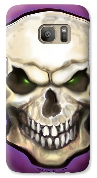Galaxy Case featuring the painting Evil Skull by Kevin Middleton