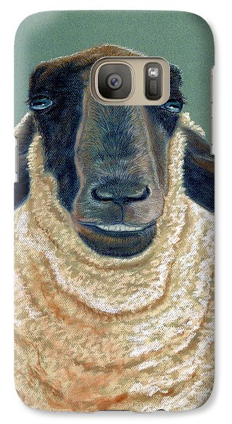 Galaxy Case featuring the pastel Ewe Move Me Baby by Jan Amiss
