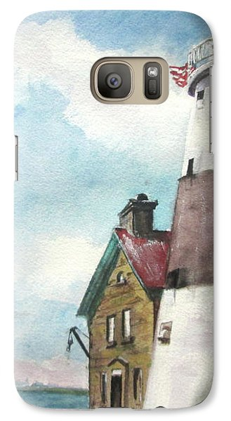 Galaxy Case featuring the painting Execution Rocks Lighthouse by Susan Herbst