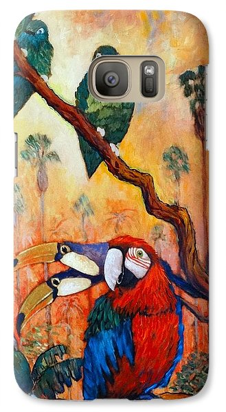 Galaxy Case featuring the painting Exotic Birds Of South America  by Charles Munn