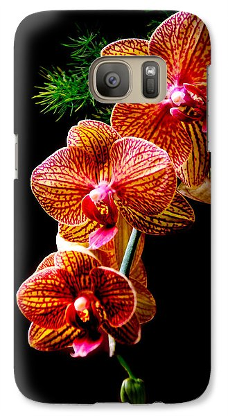 Galaxy Case featuring the photograph Exotic Cascade Of Orchids by Julie Palencia