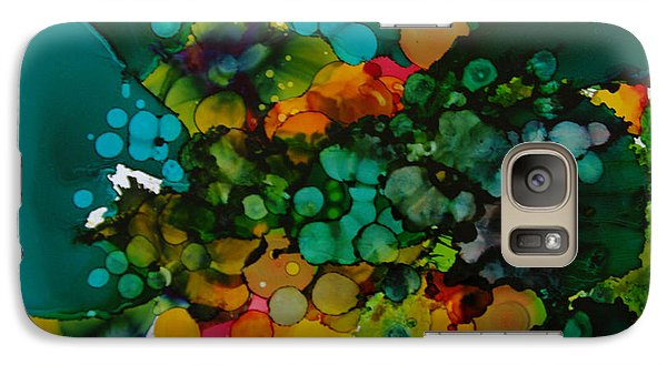 Galaxy Case featuring the painting Exotic Flower # 48 by Sima Amid Wewetzer