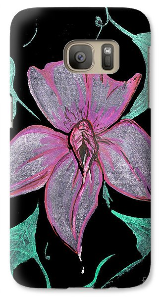 Galaxy Case featuring the painting Exotic Flower by Tbone Oliver