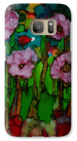 Galaxy Case featuring the painting Exotic Flowers # 51. by Sima Amid Wewetzer