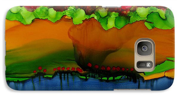 Galaxy Case featuring the painting Exotic Landscape # 36 by Sima Amid Wewetzer