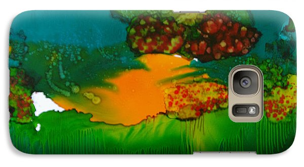 Galaxy Case featuring the painting Exotic Landscape # 47 by Sima Amid Wewetzer