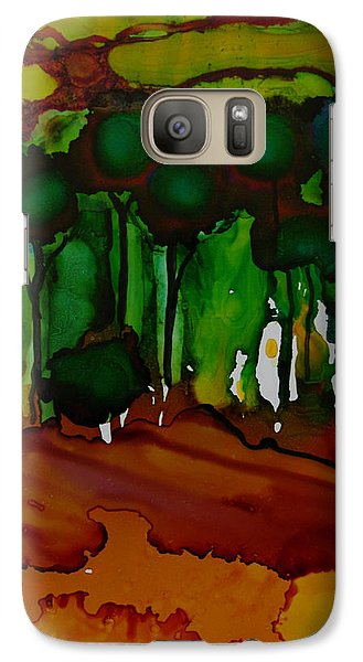 Galaxy Case featuring the painting Exotic Landscape # 74 by Sima Amid Wewetzer