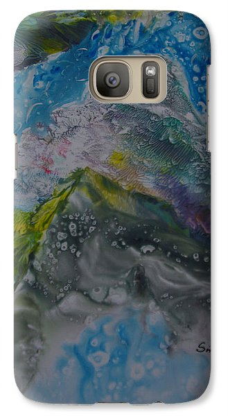 Galaxy Case featuring the painting Exotic Landscape # 76 by Sima Amid Wewetzer