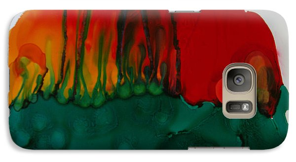 Galaxy Case featuring the painting Exotic Nature # 56 by Sima Amid Wewetzer