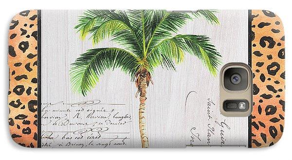 Tiger Galaxy S7 Case - Exotic Palms 1 by Debbie DeWitt