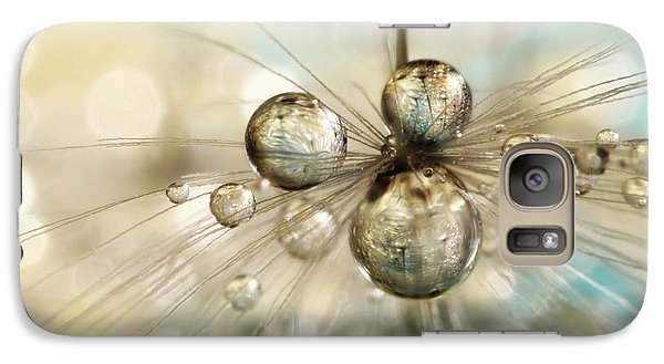 Galaxy Case featuring the photograph Exploding Dandy Drops by Sharon Johnstone