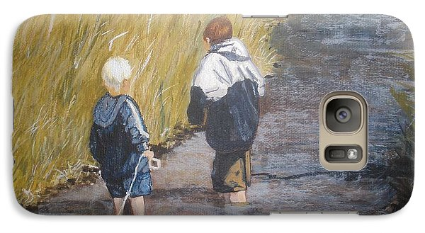 Galaxy Case featuring the painting Exploring by Betty-Anne McDonald