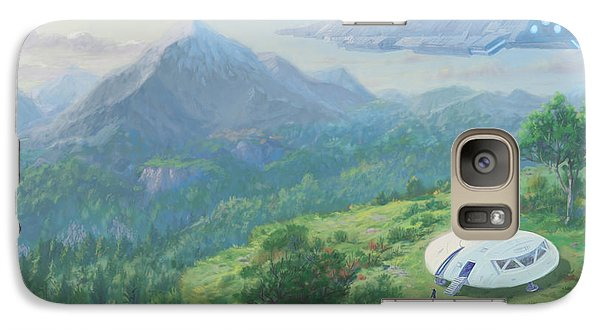Galaxy Case featuring the digital art Exploring New Landscape Spaceship by Martin Davey