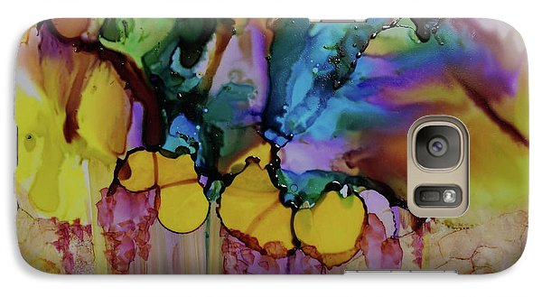Galaxy Case featuring the painting Explosion Of Petals by Joanne Smoley