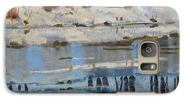 Galaxy Case featuring the painting Extra Thin Ice by Len Stomski
