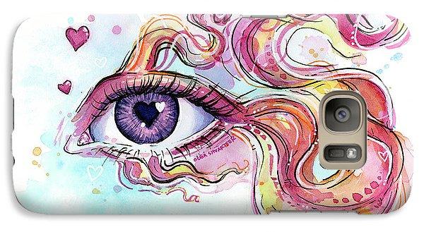 Eye Fish Surreal Betta Galaxy S7 Case by Olga Shvartsur