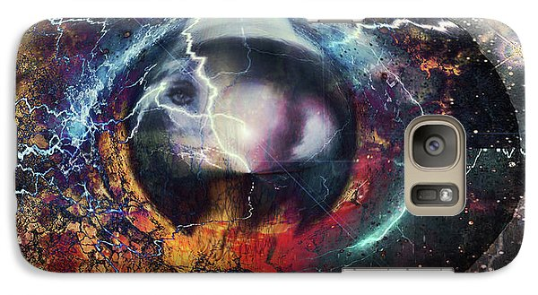 Galaxy Case featuring the digital art Eye Of The Storm by Linda Sannuti