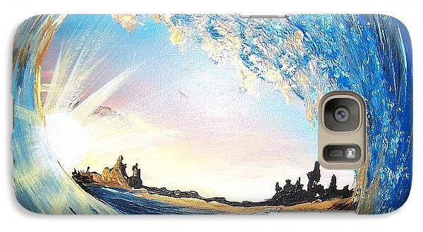 Galaxy Case featuring the painting Eye Of The Wave by Sharon Duguay
