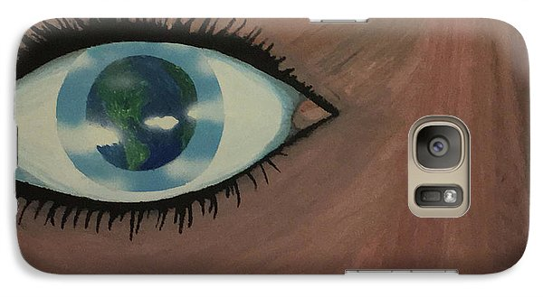 Galaxy Case featuring the painting Eye Of The World by Thomas Blood