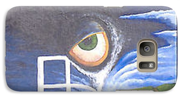 Galaxy Case featuring the painting Eyefence by Steve  Hester