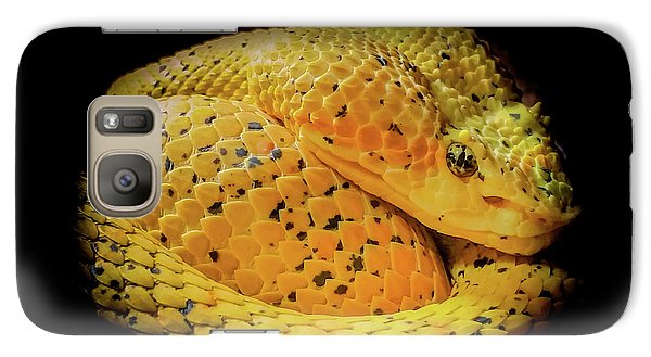Galaxy Case featuring the photograph Eyelash Viper by Karen Wiles