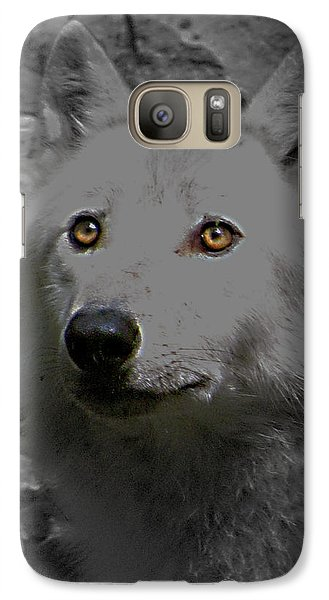 Galaxy Case featuring the photograph Eyes Of The Wolf by Debra     Vatalaro