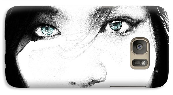 Galaxy Case featuring the painting Eyes by Tbone Oliver