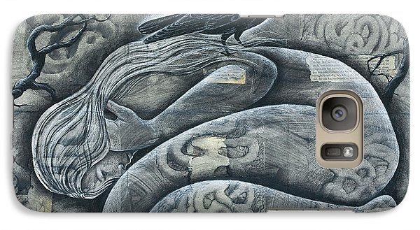 Galaxy Case featuring the mixed media Eyes Wide Open by Sheri Howe